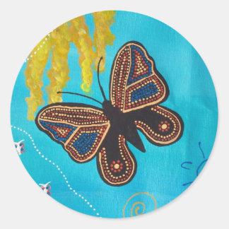 Aboriginal Art Butterfly Dreaming Sticker