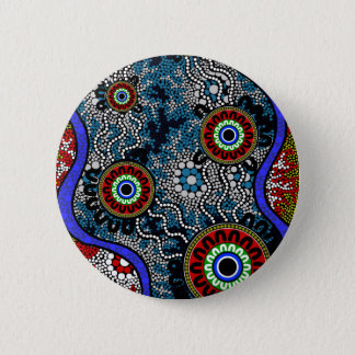 Aboriginal Art - Camping 6 Cm Round Badge