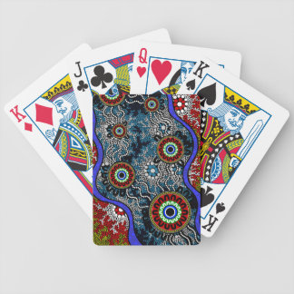 Aboriginal Art - Camping Bicycle Playing Cards