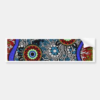 Aboriginal Art - Camping Bumper Sticker