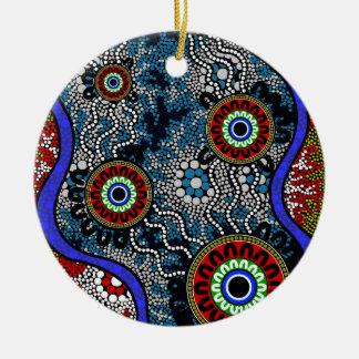 Aboriginal Art - Camping Ceramic Ornament