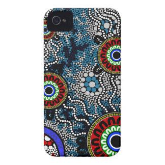 Aboriginal Art - Camping iPhone 4 Case-Mate Cases