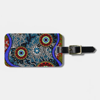 Aboriginal Art - Camping Luggage Tag