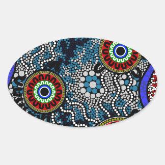 Aboriginal Art - Camping Oval Sticker
