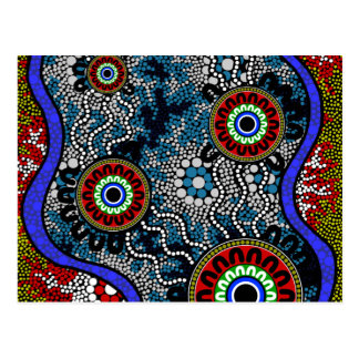 Aboriginal Art - Camping Postcard