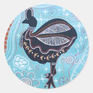 Aboriginal Art Cassowary Sticker