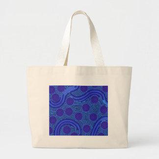 Aboriginal Art - Circles & Lines Large Tote Bag