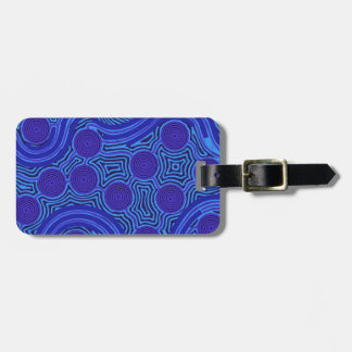 Aboriginal Art - Circles & Lines Luggage Tag