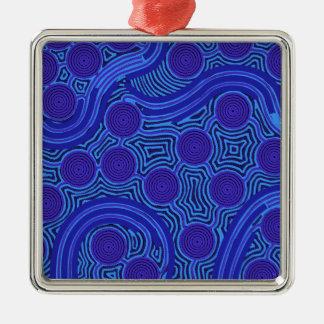 Aboriginal Art - Circles & Lines Metal Ornament