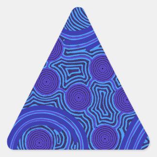 Aboriginal Art - Circles & Lines Triangle Sticker