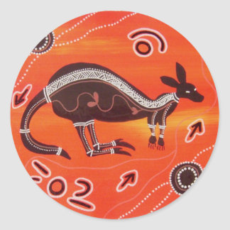 Aboriginal Art Desert Kangaroo Sticker