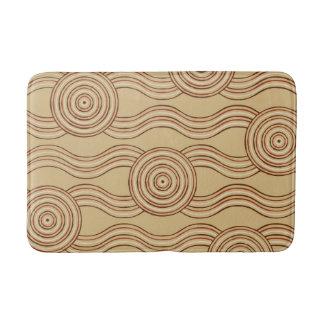 Aboriginal art earth bath mat