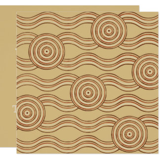 Aboriginal art earth card