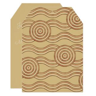 Aboriginal art earth card