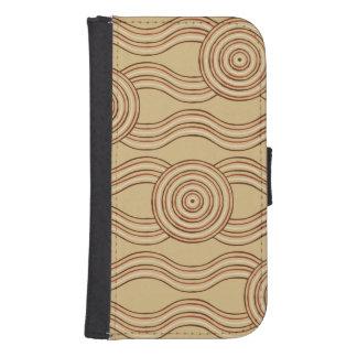 Aboriginal art earth samsung s4 wallet case