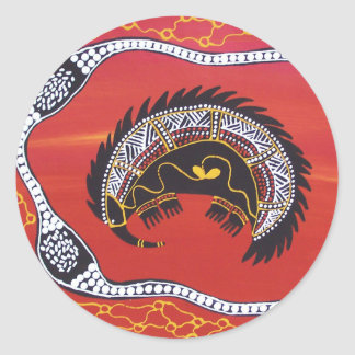 Aboriginal Art Echidna Sleeping Sticker