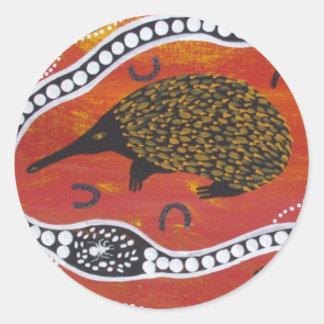 Aboriginal Art Echidna Sticker