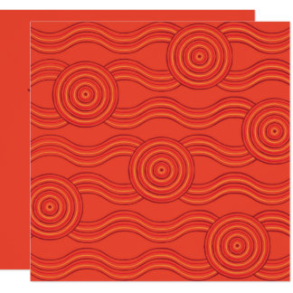 Aboriginal art fire card