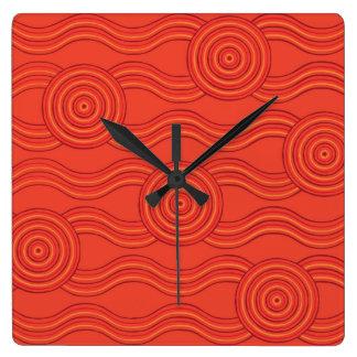 Aboriginal art fire clock