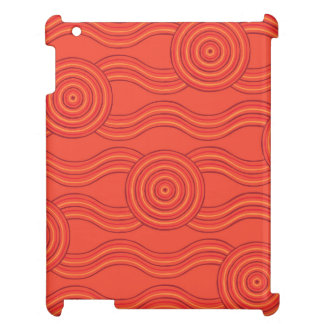 Aboriginal art fire iPad case
