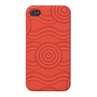 Aboriginal art fire iPhone 4/4S cover