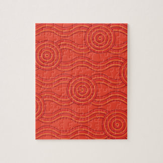 Aboriginal art fire jigsaw puzzle