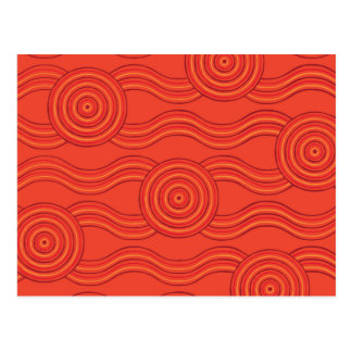 Aboriginal art fire postcard