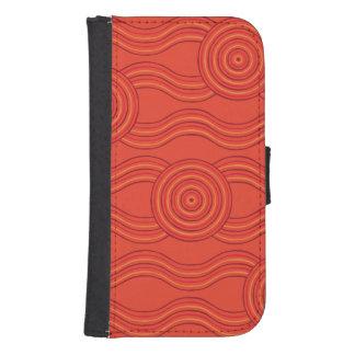 Aboriginal art fire samsung s4 wallet case