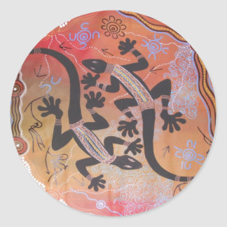 Aboriginal Art Goanna Brothers Sticker