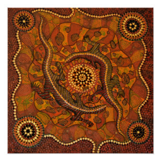Aboriginal Art - Goanna Dreaming Poster