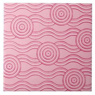 Aboriginal art gumnut blossoms ceramic tile
