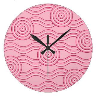 Aboriginal art gumnut blossoms clock