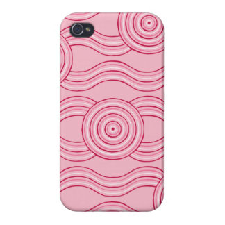 Aboriginal art gumnut blossoms covers for iPhone 4