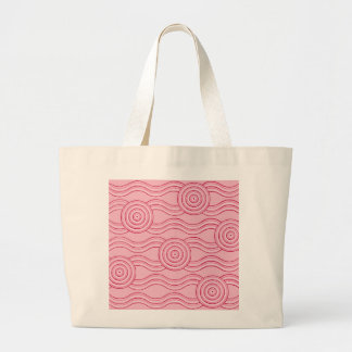 Aboriginal art gumnut blossoms large tote bag