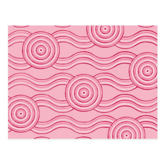 Aboriginal art gumnut blossoms postcard