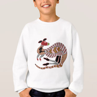 Aboriginal Art Kangaroo - Authentic Aboriginal Art Sweatshirt