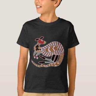 Aboriginal Art Kangaroo - Authentic Aboriginal Art T-Shirt