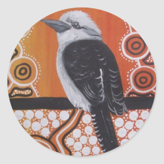 Aboriginal Art Kookaburra Sticker