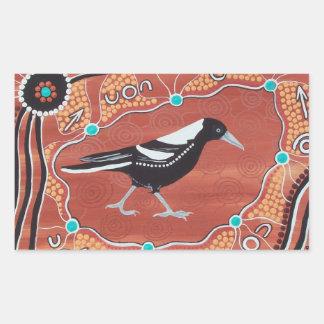 Aboriginal Art Magpie Dreaming Stickers