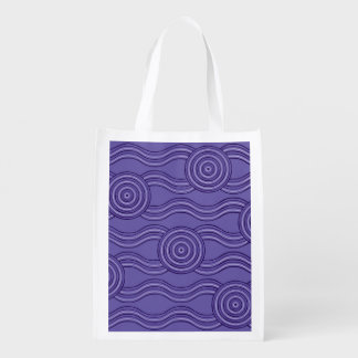 Aboriginal art melaleuca reusable grocery bag