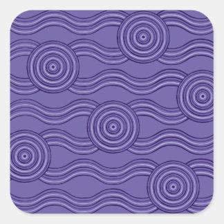 Aboriginal art melaleuca square sticker