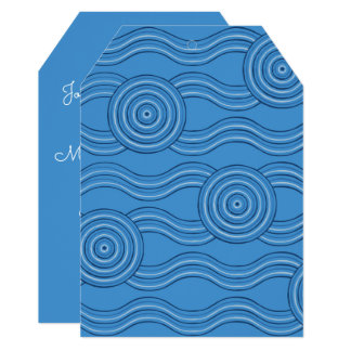Aboriginal art ocean card