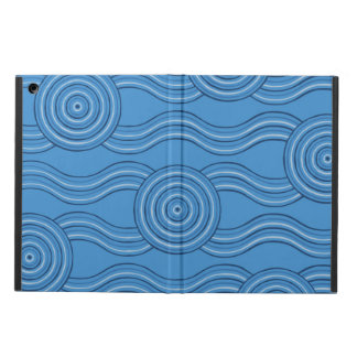Aboriginal art ocean iPad air cover