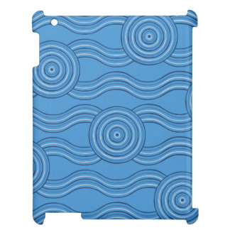 Aboriginal art ocean iPad case
