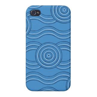 Aboriginal art ocean iPhone 4 cases