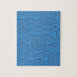 Aboriginal art ocean jigsaw puzzle