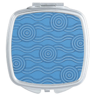 Aboriginal art ocean mirrors for makeup
