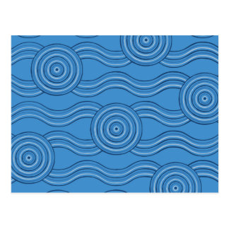 Aboriginal art ocean postcard