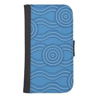 Aboriginal art ocean samsung s4 wallet case