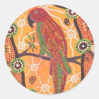 Aboriginal Art Parrot Dreaming Sticker